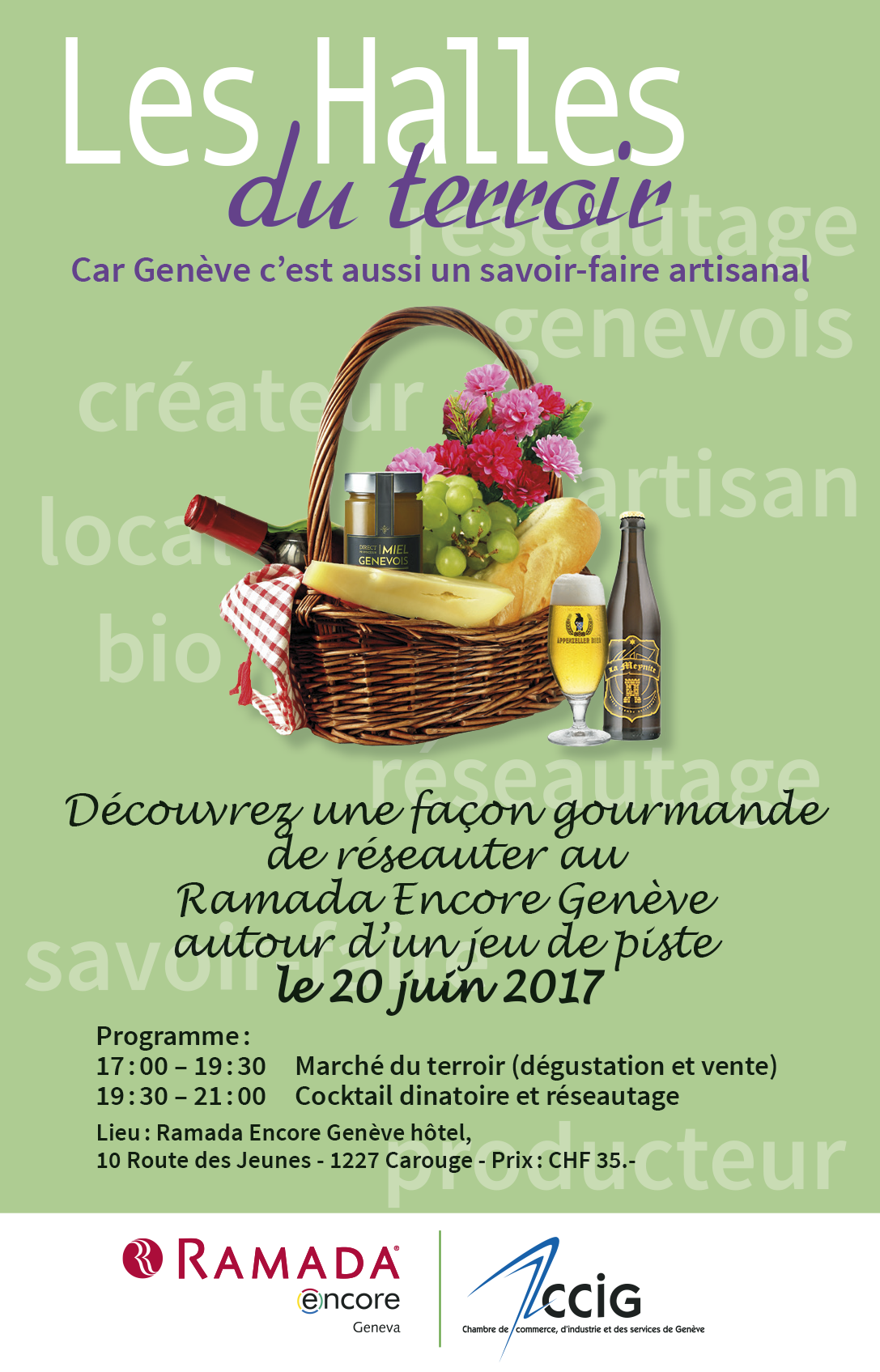 Flyer Halles du terroir